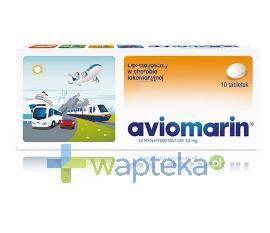 TEVA PHARMACEUTICALS POLSKA SP. Z O. O. Aviomarin 50mg 10 tabletek