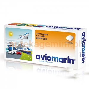 TEVA Aviomarin 50mg, 5 tabletek