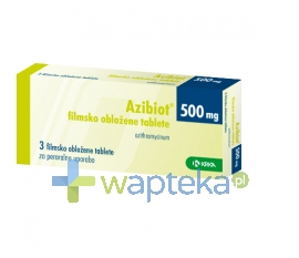 KRKA POLSKA SP. Z O.O. Azibiot tabletki powlekane 500 mg 3 sztuk