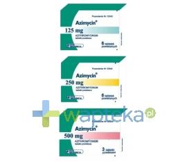 TARCHOMIŃSKIE ZAKŁADY FARM. POLFA S.A. Azimycin tabletki powlekane 500 mg 3 sztuki