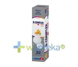 ZAKŁADY FARMACEUTYCZNE POLFA-ŁÓDŹ S.A. B-complex Plus 20 tabletek musujących - Krótka data ważności - do 31-12-2015
