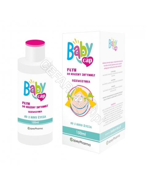 CAPEYPHARMA Babycap płyn do higieny intymnej DZIEWCZYNKA 150 ml
