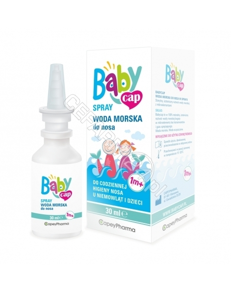 CAPEYPHARMA Babycap spray woda morska do nosa 1m+ 30 ml