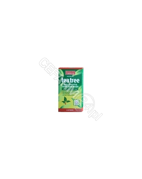 BEAUTY FORMULAS Beauty formulas głęboko oczyszczające paski na nos Tea Tree x 6 szt