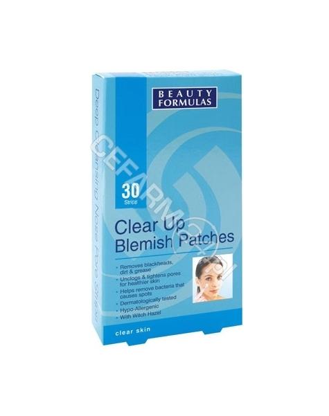 BEAUTY FORMULAS Beauty formulas oczyszczające plasterki na krosty i plamy x 30 szt (data ważności 30.08.2016)