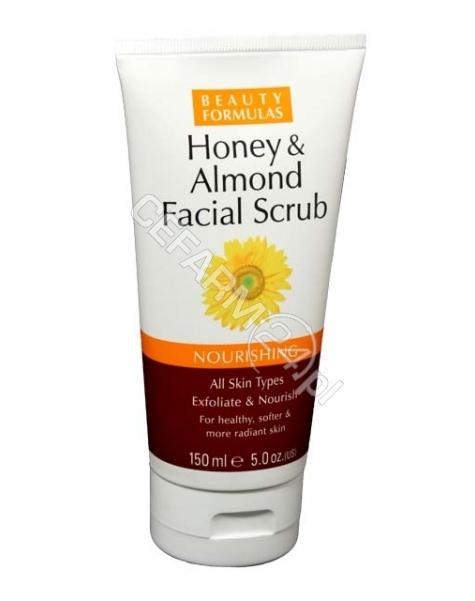 BEAUTY FORMULAS Beauty formulas złuszczający peeling do twarzy miód i migdały 150 ml