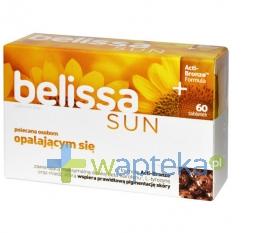 AFLOFARM FARMACJA POLSKA SP. Z O.O. Belissa Sun activ-bronze 60 tabletek