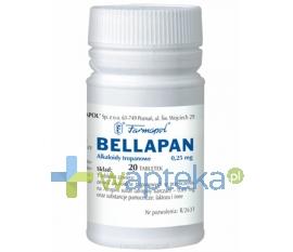 FARMAPOL SP. Z O.O. Z.CH.-F. Bellapan tabletki 0,25 mg 20 sztuk