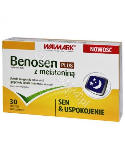 WALMARK Benosen plus z melatoniną x 30 tabl powlekanych (Walmark)