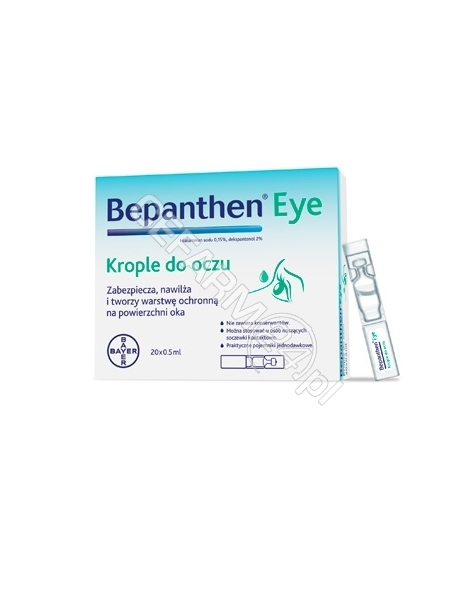 BAYER Bepanthen eye krople do oczu 0,5 ml x 10 szt