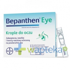 BAYER SP. Z O.O. Bepanthen eye krople do oczu 0,5ml x 20 sztuk