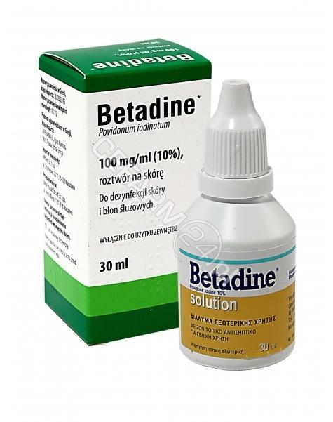 INPHARM Betadine 100 mg/ml roztwór na skórę 30 ml (import równoległy - Inpharm)