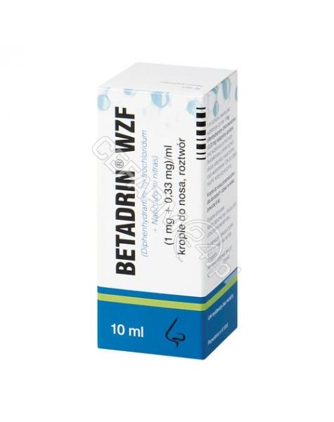 POLFA WARSZA Betadrin wzf krople donosowe 10 ml