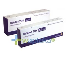 ASTRAZENECA AB Betaloc ZOK 25 tabletki o kontrolowanym uwalnianiu 23,75 mg 28 sztuk