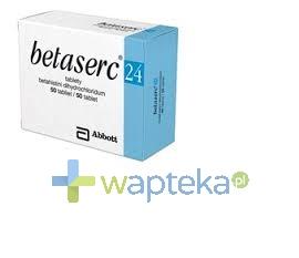 SOLVAY PHARMA SA Betaserc 24 mg tabletki 60 sztuk