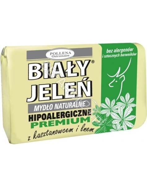 POLLENA OSTRZESZÓW Biały jeleń mydło premium z kasztanowcem i lnem 100 g