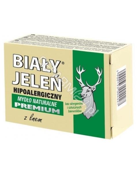 POLLENA OSTRZESZÓW Biały jeleń mydło premium z lnem w kartoniku 100 g