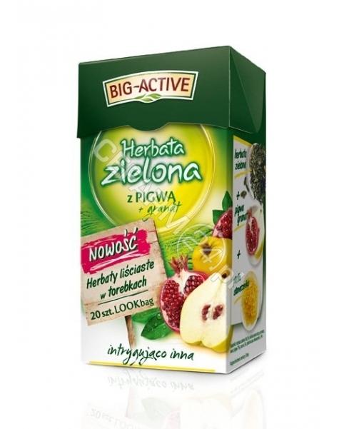 HERBAPOL LUB Big-active herbata zielona z pigwą + granat x 20 sasz