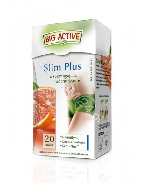 BIO-ACTIVE Big-active slim plus herbata wspomagająca odchudzanie x 20 sasz