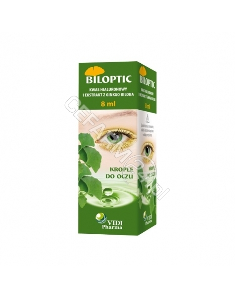 VIDI PHARMA Biloptic krople do oczu 8 ml
