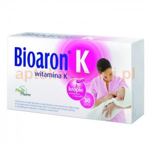 PHYTOPHARM KLĘKA Bioaron Witamina K, dla dzieci od 2 tygodnia życia, 30 kapsułek twist-off