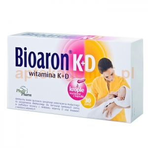 PHYTOPHARM KLĘKA Bioaron Witamina K+D, dla dzieci od 2 tygodnia życia, 30 kapsułki twist-off