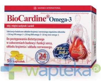 MARINEX BioCardine Omega-3, 56 kapsułek