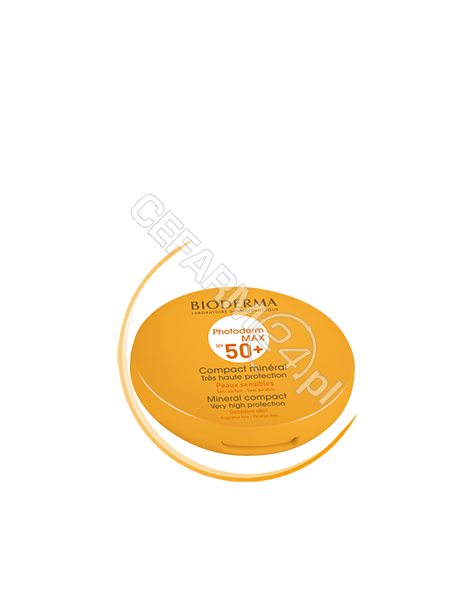 BIODERMA Bioderma photoderm max compact - ochronny podkład mineralny w kompakcie spf 50+ (odcień ciemny) 10 g + Bioderma photoderm apres soleil - emulsja po opalaniu 100 ml GRATIS !!!