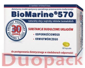 MARINEX INTERNATIONAL SP. Z O.O. BioMarine 570 olej z wątroby rekina 360 kapsułek (2x180kapsułek)