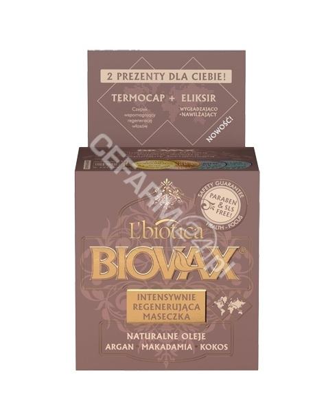L'BIOTICA Biovax intensywnie regenerująca maseczka Argan, Makadamia, Kokos 250 ml