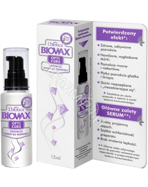 L'BIOTICA Biovax odżywcze serum do paznokci 15 ml (2 OPAKOWANIA W CENIE 1!!!!) (data ważności 31.05.2016)