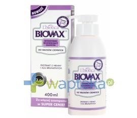 LBIOTICA BIOVAX Szampon regenerujący włosy ciemne 400 ml - Krótka data ważności - do 30-01-2016