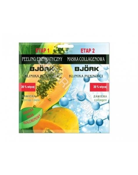 MONIQUE Bjork maseczka kolagenowa + peeling enzymatyczny 2 x 12 g
