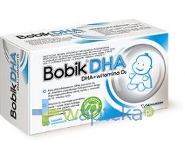 NOVASCON PHARMACEUTICALS SP. Z O.O. Bobik DHA (DHA+Vit.D3) 30 kapsułek twist off
