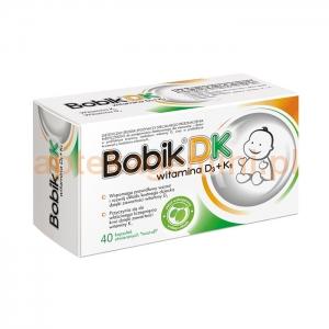 ELANTIS FARMA Bobik DK (witamina D3 + witamina K1), dla niemowląt od 8 doby życia, 40 kapsułek twist-off