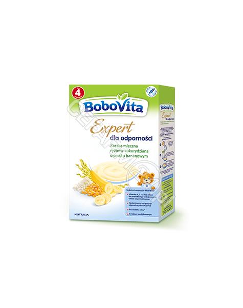 NUTRICIA Bobovita Expert dla odporności kaszka mleczna ryżowo - kukurydziana o smaku bananowym 250 g