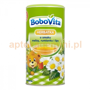 NUTRICIA BoboVita, herbatka z melisy, rumianku, lipy, po 6 miesiącu 200g