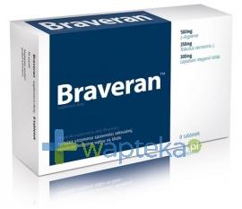 AFLOFARM FABRYKA LEKÓW SP.Z O.O. Braveran tabletki 8 tabletek