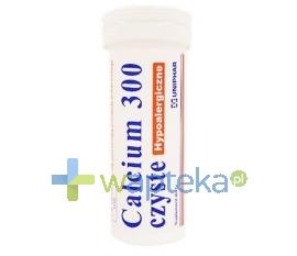 UNIPHAR SP Z O.O. Calcium 300 czyste hypoalergiczne 10 tabletek musujących UNIPHAR