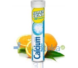 POLSKI LEK Calcium 300 na alergię smak pomarańczowy 20 tabletek musujących POLSKI LEK