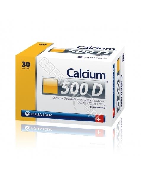 POLFA ŁÓDŹ Calcium 500 d proszek musujący x 30 saszetek