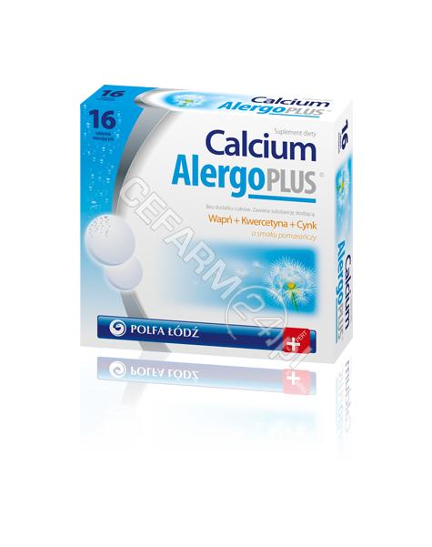 POLFA ŁÓDŹ Calcium alergo plus x 16 tabl musujących
