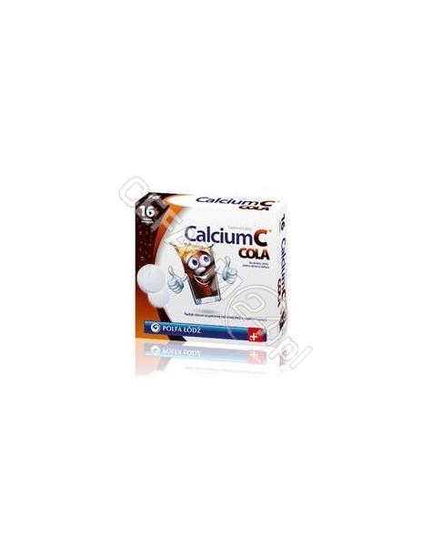 POLFA ŁÓDŹ Calcium c cola x 16 tabl musujących (polfa łódź)