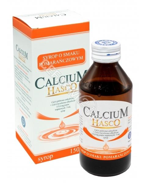 HASCO-LEK Calcium hasco syrop o smaku pomarańczowym 150 ml