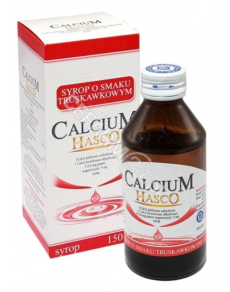 HASCO-LEK Calcium hasco syrop o smaku truskawkowym 150 ml