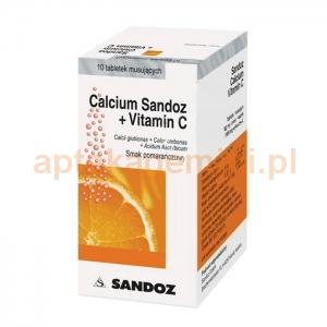 SANDOZ Calcium - Sandoz + Vitamina C, 10 tabletek musujących