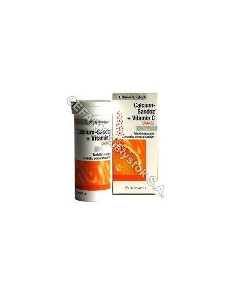 NOVARTIS Calcium sandoz+vit.c orange 1g x 10 tabl