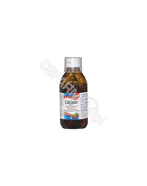AFLOFARM Calcium syrop truskawkowy 150 ml (aflofarm)