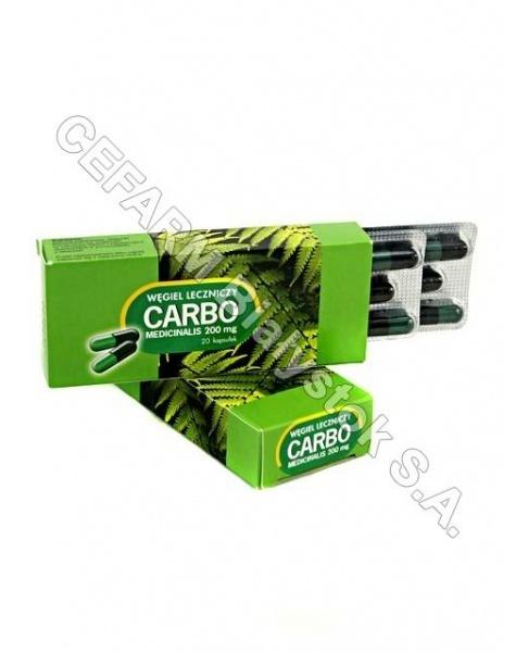 ICN POLFA RZ Carbo medicinalis 200 mg x 20 kaps