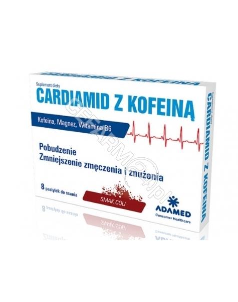 ADAMED Cardiamid z kofeiną o smaku coli x 8 pastylek do ssania